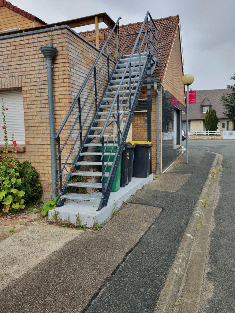 Escalier d'extérieur réalisé pour un particulier